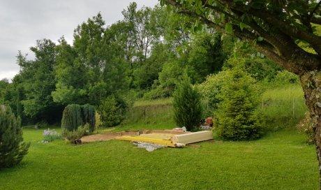 Abri de jardin chalet en bois Mélèze à St Alban Leysse en Savoie