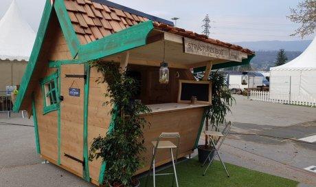 Création d'un abri de jardin en bois sur mesure et insolite à Chambéry - Structures Bois & Compagnie