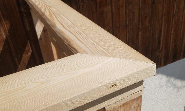 Rénovation d'un balcon en mélèze en Haute Savoie